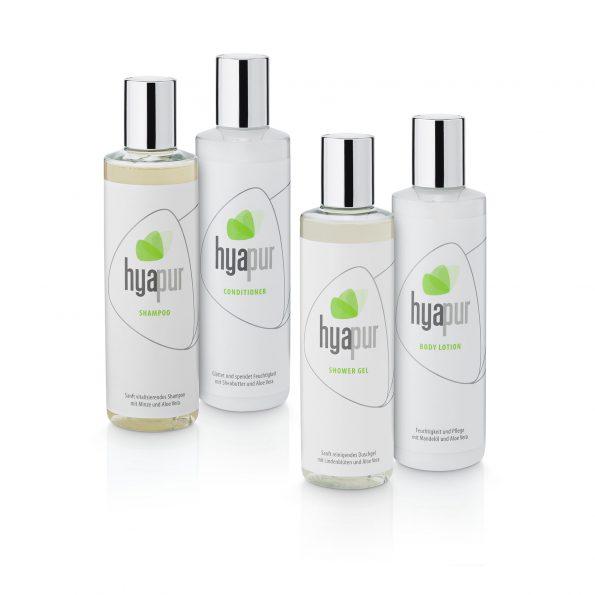 4 produits hyapur® GREEN Soin du corps á 250 ml